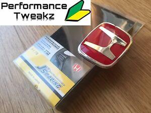 NEW JDM HONDA RED H STEERING WHEEL TYPE R BADGE EMBLEM FOR CIVIC FN2 FK2 FK8 UK