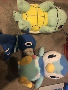 "Toy Factory Squirtle Plush 13"" Pokemon Stuffed Animal Toy Piplup + Seal Pokemon"