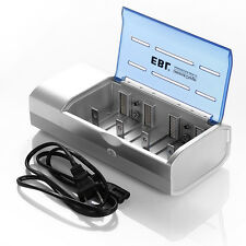 EBL Battery Charger For AA AAA 9V C D 9-Volt Ni-MH Ni-CD Rechargeable Batteries