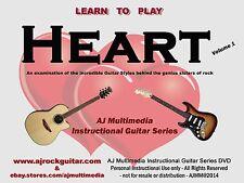 Custom Guitar Lessons, Learn guitar of Heart v1 - DVD Video