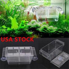 Us_ Aquarium Fish Tank Guppy Double Breeding Breeder Rearing Trap Box Hatchery