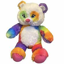 "Rainbow Build A Bear BAB Workshop 16"" Plush Stuffed Animal Pop of Color Panda"