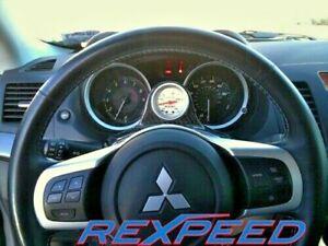 REXPEED Steering Wheel Carbon Single Pod for MITSUBISHI EVO X
