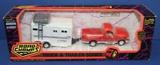Road Champs O 1:43 Ford F-150 Pickup Red w Featherlite Horse Trailer MIB 1995