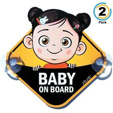 Jojo Baby on Board Safety 2 Sign Cars, Cute Girl, Nice Gift for New Parents