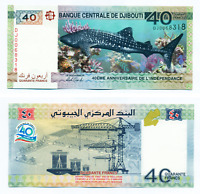 Djibouti 40 Francs 2017 Commemorative World Uncirculated Banknote Bill Money