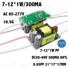 10PCS AC85-277V 12W LED Driver 7-12x1W 300mA DC20-40V Constant Current Power PFC