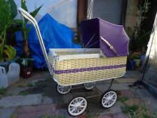 DOLLS PRAM WICKER TYPE 1950's ERA ? ? VINTAGE ANTIQUE NICE CONDITION