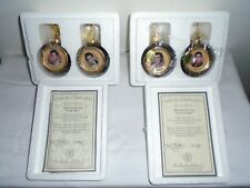 BRADFORD EDITIONS SOLID GOLD ELVIS HEIRLOOM PORCELAIN ORNAMENT COLLECTION (12)