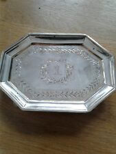 Antique Victorian Sterling Silver Salver / Card Tray