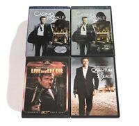 James Bond 007 (DVD Lot of 3) Live & Let Die, Casino Royale, Quantum of Solace
