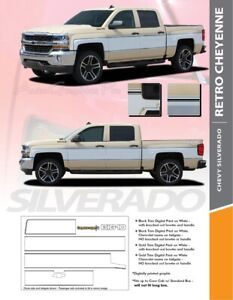 2014-2018 Chevy Silverado Retro Cheyenne Stripe Kit