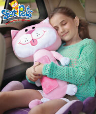 PINK SEAT PET MERCEDES CAT CAR BELT TOY KITTY PILLOW Christmas Travel Seen On TV