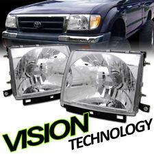 JDM Chrome Clear Lens Headlights Headlamps Lamps KS 97-00 Toyota Tacoma 2WD/4WD