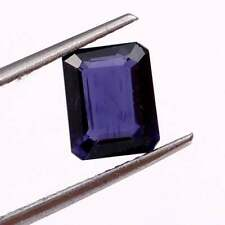 Natural Iolite Gem Cut Faceted Octagon AAA+Quality Loose Gemstone 2.50 Carats