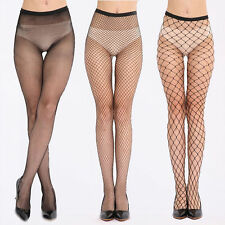 Fashion Women's Mesh Net Fishnet Stockings Pantyhose Black High Waisted Tights
