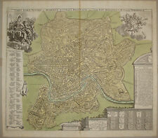 stampa antica old print ROMA homann 1720 c. kupferstich gravure pianta plan rome