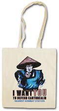 I Want You Raiden sustancia bolso Earthrealm Liu Kang mortal Mk nerd Kombat Fun