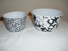 Liberty of London Target Set of 2 Black White Daisy Flowers Mixing/Prep Bowls