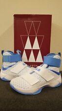 Nike LeBron Soldier X 10 WHITE UNIVERSITY NORTH CAROLINA BLUE 856489-142 sz 9
