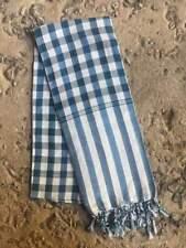 Krama BLEU VERT traditionnel Echarpe mixte Khmère coton Tissé scarf Cambodge 109