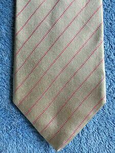 HERRINGBONE Quality Neck Tie Italy made 100% Silk, Pink stripe, pale orange