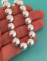 "Tiffany & Co Sterling Silver Hardwear Ball Bead Bracelet 8.25"". RRP $455"