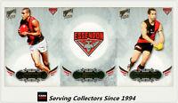 2009 Select AFL Pinnacle Trading Cards Base Team Set Essendon (12)