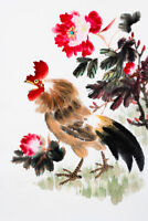 Year Of The Rooster Traditional Chinese Zodiac Art Print Poster 12x18 inch