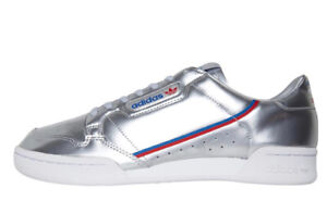 adidas Originals Continental 80 Mens Trainers Silver Sizes 5 - 6.5 new