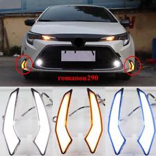 2X For Toyota Corolla 2020 L/LE/XLE LED front bumper fog light DRL running light
