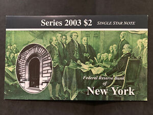 Series 2003 $2 Single Star Note New York Uncirculated