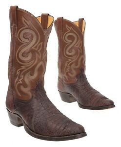 JUSTIN Cowboy Boots 10.5 D Mens Exotic Hornback Lizard Leather Western Boots USA