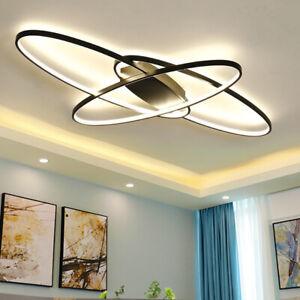Large LED Lamp Ceiling Light Modern Chandelier Living Room Bedroom Pendant Light