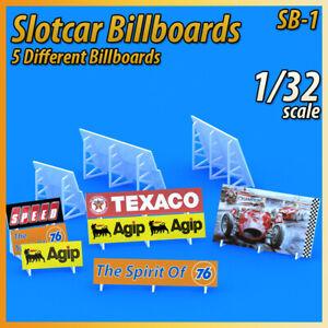 Slotcar Scenery Building 5X Trackside Billboards for scalextric, carrera tracks