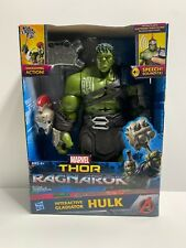 "Hasbro Marvel Thor Ragnarok Hulk Interactive Electronic 13"" Action Figure Talks"