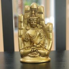 Small Meditating Buddha Statue Spiritual Zen decor Travel altar Tibetan Deity