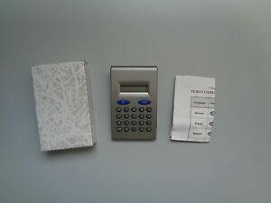 Calculette de Bureau Convertisseur Euro (€) Format Poche & Réponse Vocale - Neuf