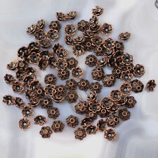 6mm Bead Flower Cap Jewelry DIY Finding 100pc antique brass copper gold silver