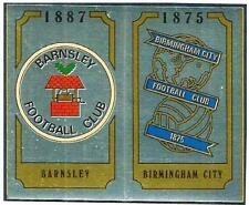 PANINI FOOTBALL 88-#407-A-B-BARNSLEY / BIRMINGHAM CIITY TEAM BADGES-FOILS