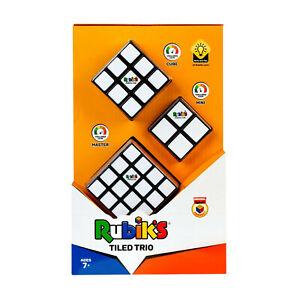 Original Rubik's Cube Zauberwürfel Tiled Trio Set Puzzlespielzeug 3 Würfeln