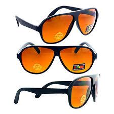 HD BLUE BLOCKER Driving Sunglasses Aviator Amber Lens 100% UV400