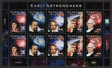 MARSHALL ISLANDS, SCOTT # 963, COMPLETE SHEET OF 10 EARLY ASTRONOMERS YEAR 2010