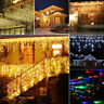3.5M Icicle Hanging String 96-960 LED Curtain Window Home Party Garland Lights