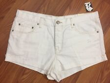 BDG Tom Girl Urban Outfitters New Womens Size 32 White Jeans Shorts Distressed