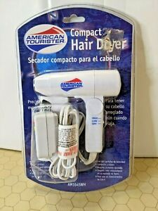 American Tourister Compact Hair Dryer - Model AM1645WH - Compact and Lightweight