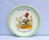 """Holly Hobbie Collectors Edition Plate When you're happy 10.5"""" American Greeting"""