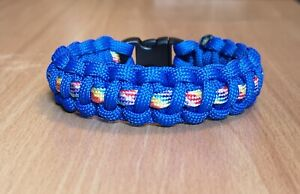 NHS Rainbow Nurse Medic EMS Handmade Paracord 550 Bracelet