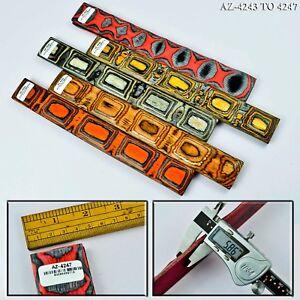 """Wood Knife Scales Handle Blanks Figured Exotic Dollar Wood 12"""" [Pair]"""