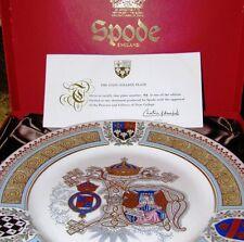 Spode Commemorative Plate ETON COLLEGE Windsor Engl Ltd Ed #43 Cert Authenticity